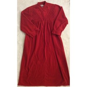 Anthony Richards Womens Plus Size Robe 1X Red